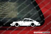 2X Lowered Porsche Classic 911 (1964 -1973) Low car outline STICKERS decal